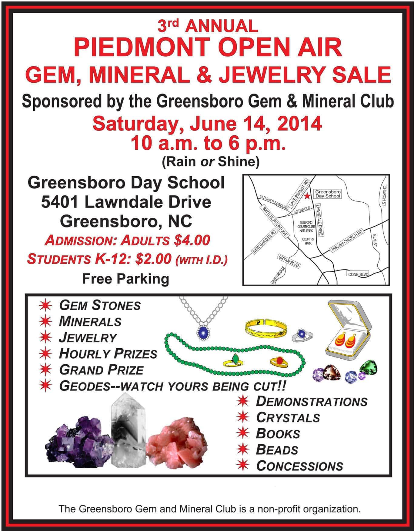 greensboro nc gem and mineral club ggmc rockhounds
